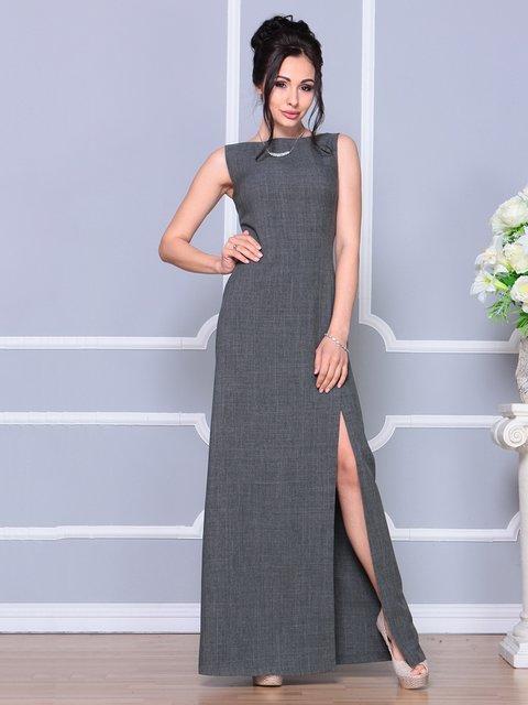 Платье графитового цвета Laura Bettini 4178108