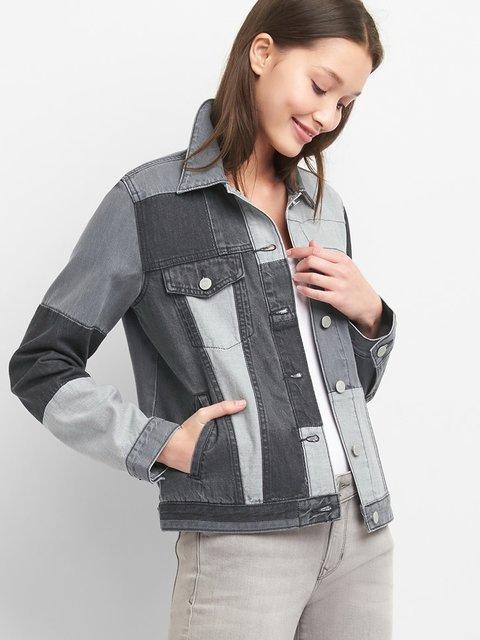 Куртка сіра джинсова GAP 4181747
