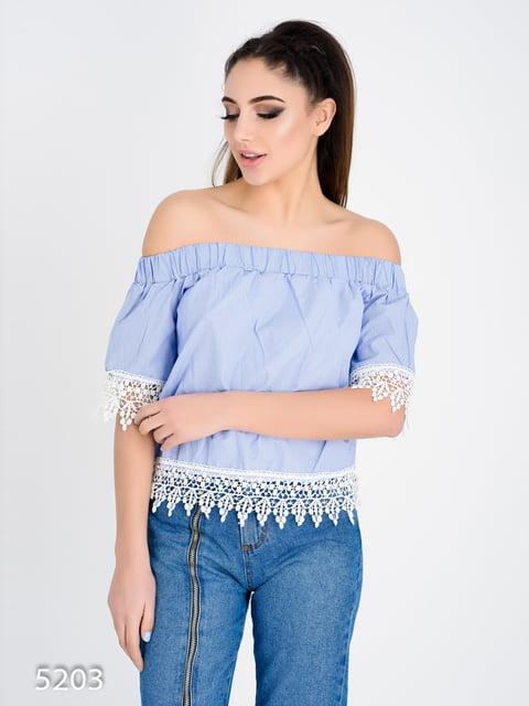 Блуза світло-синя Magnet 4184952