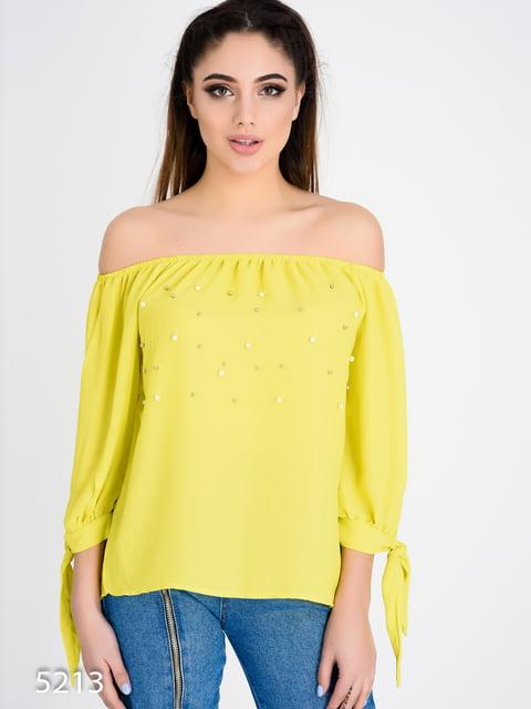 Блуза оливкового кольору Magnet 4184958