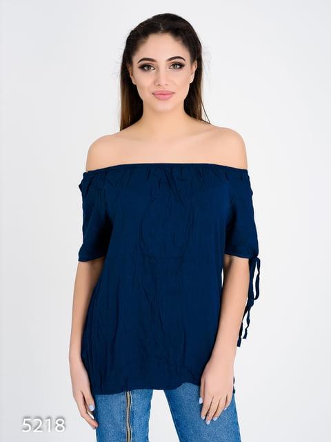 Блуза темно-синя Magnet 4185013