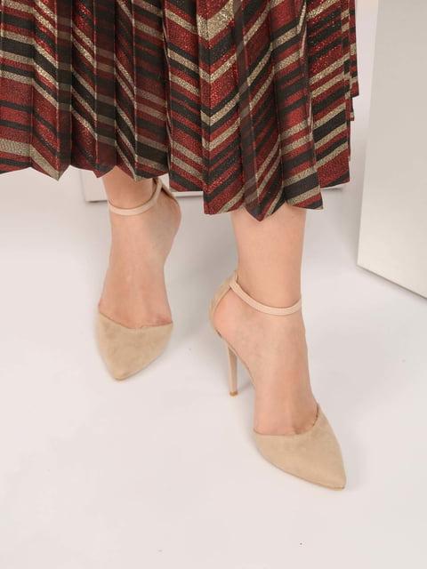 Босоніжки бежеві Shoes Time 4185227