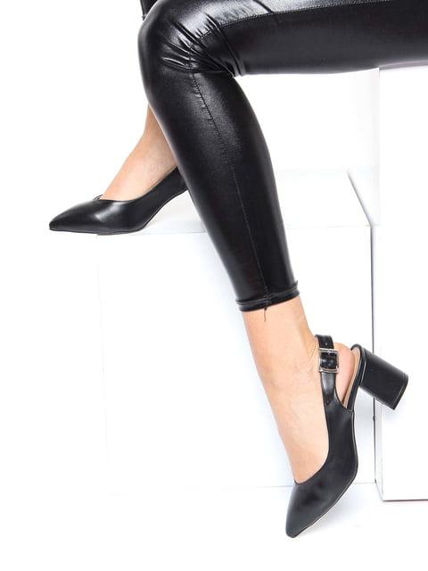 Босоніжки чорні Shoes Time 4185505