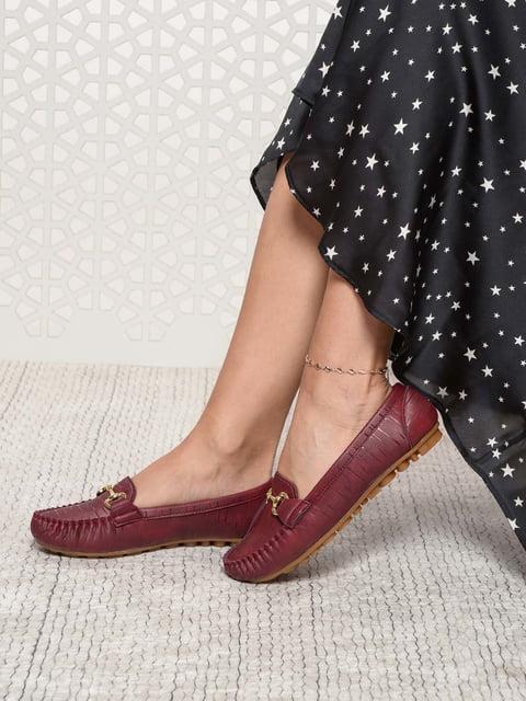 Мокасины бордовые Shoes Time 4185533