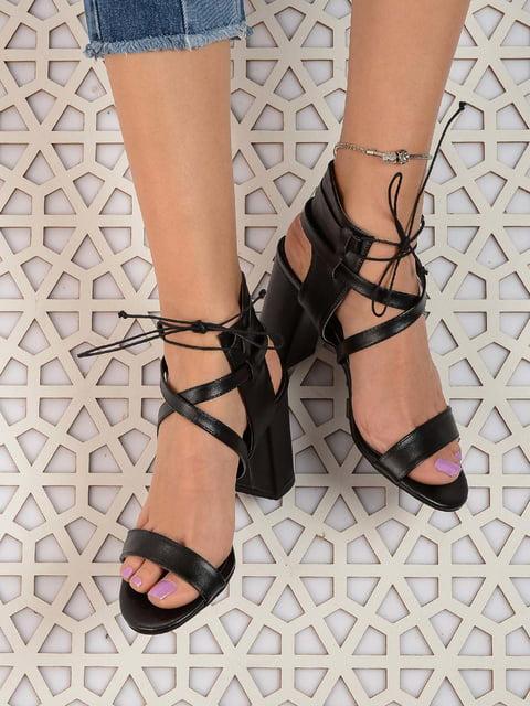 Босоножки черные Shoes Time 4185540