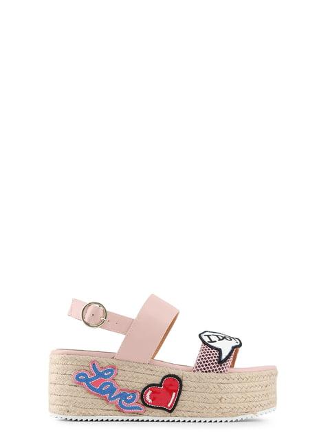 Босоножки розовые с аппликациями Love Moschino 4084988