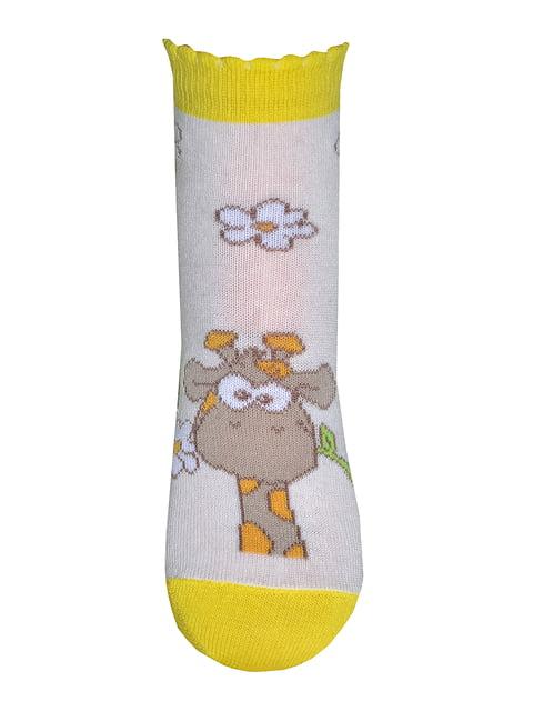 Шкарпетки молочного кольору в принт ELEGANTS 4182085