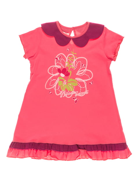 Платье розовое с принтом Bimba 4182839