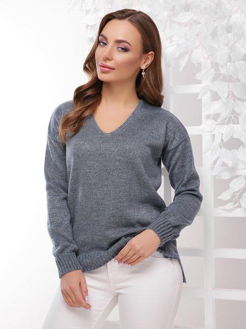 Пуловер сталевого кольору MarSe 4189719