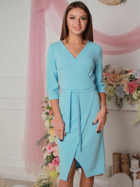 Платье голубое VSV 4190368