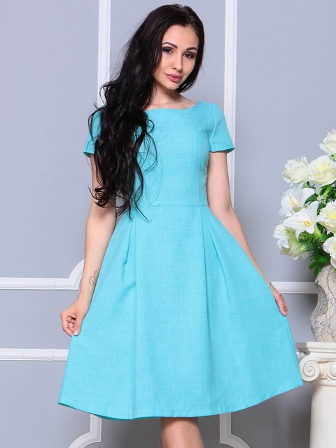 Платье светло-бирюзовое Laura Bettini 4191523