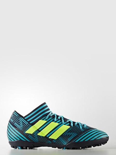 Бутсы голубые Adidas 4171140