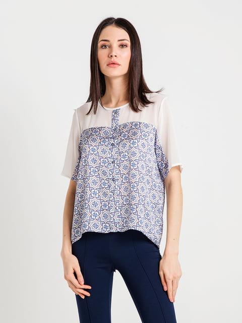 Блуза синя в принт BGN 4194673