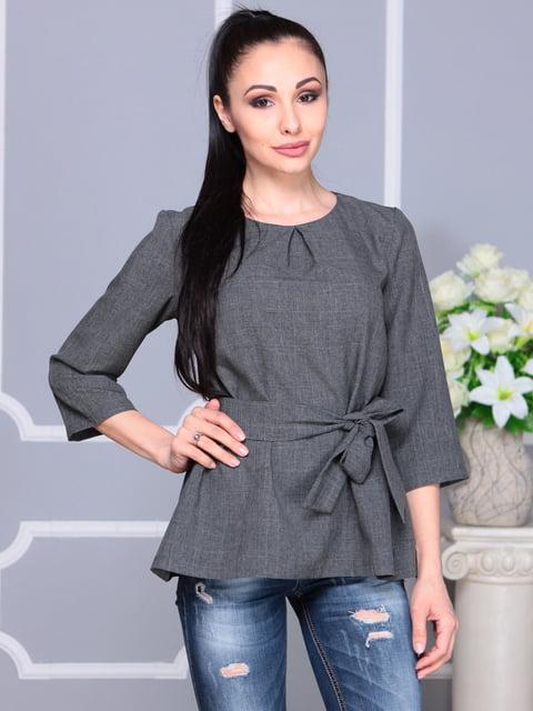 Блуза графитового цвета Rebecca Tatti 4201152