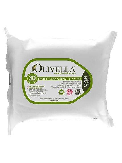 Салфетки очищающие 2в1 для лица и тела универсальные (30 шт.) Olivella 4210753