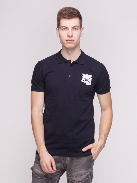 Футболка-поло темно-синя Armani Jeans 4208754