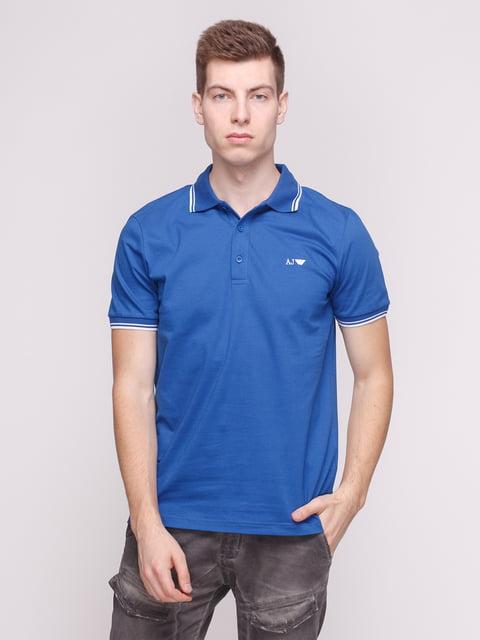 Футболка-поло синя Armani Jeans 4208749