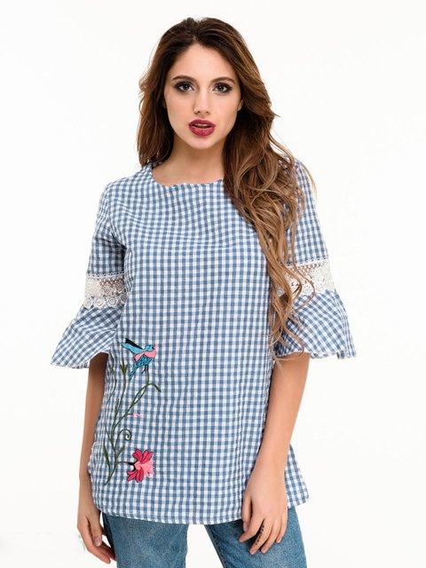 Блуза в клетку Magnet 4185067