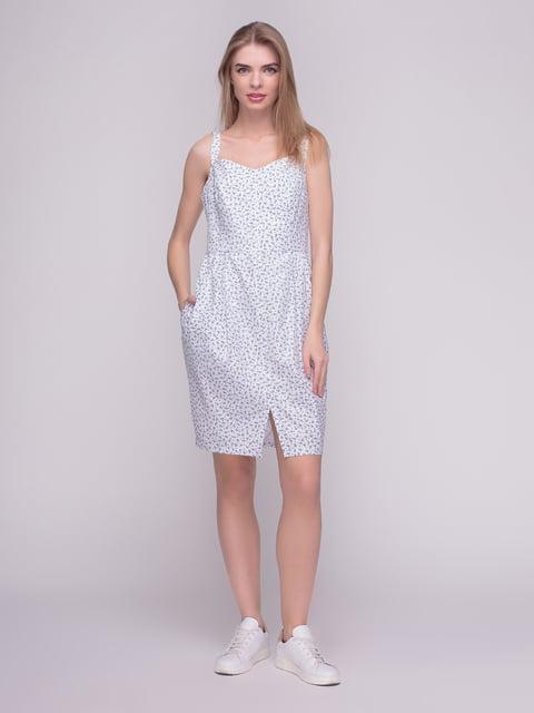 Сукня біла в принт F'91 4210265