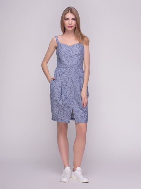 Платье синее в принт F'91 4210267