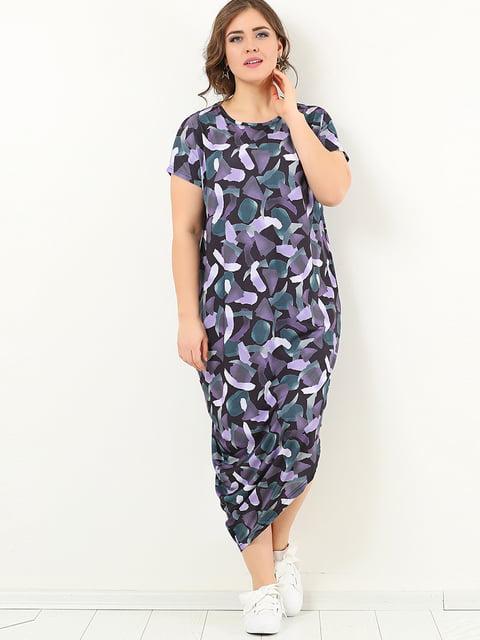 Сукня фіолетова в принт Valeria Fratta 4213293