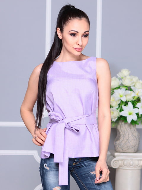 Блуза светло-фиалкового цвета Laura Bettini 4222511