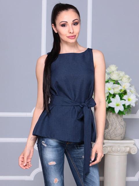 Блуза темно-синя Laura Bettini 4222512