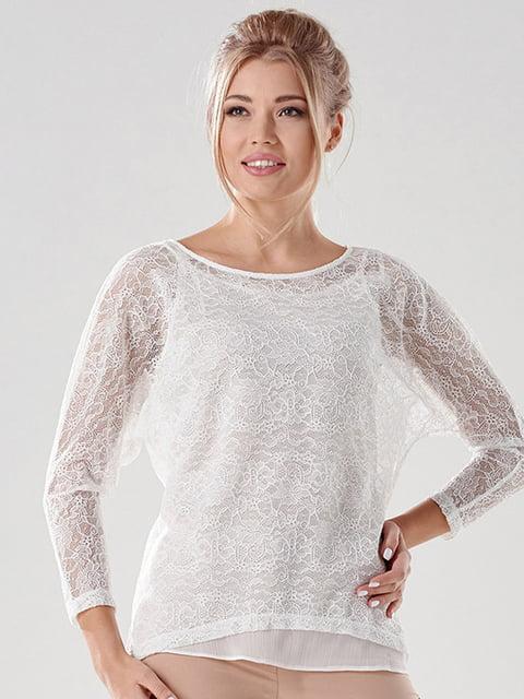 Блуза молочного цвета Lesya 4068327