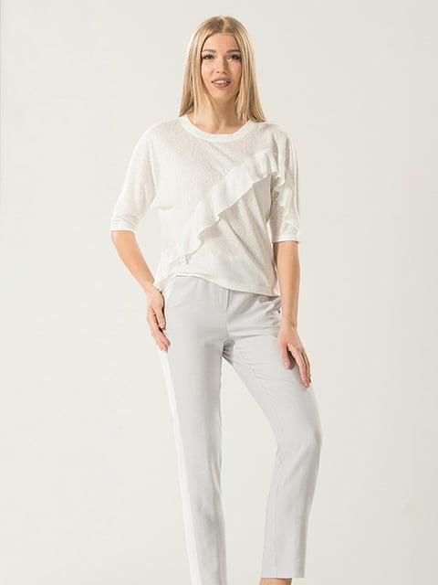 Блуза молочного кольору Lesya 4177912