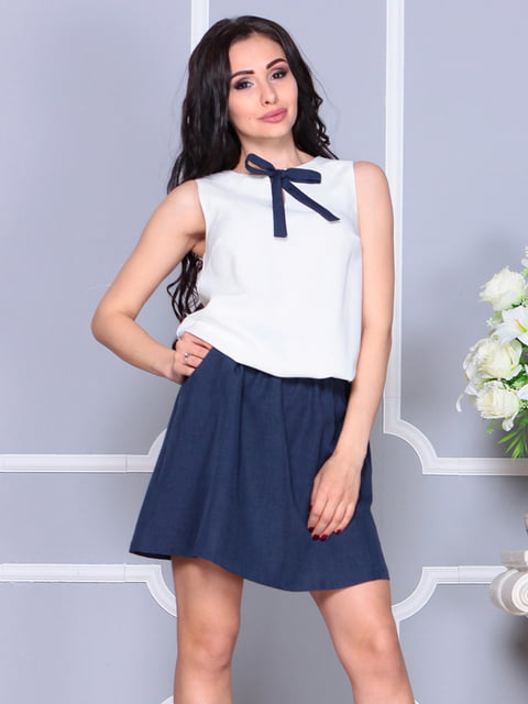 Платье молочно-синего цвета Laura Bettini 4238443