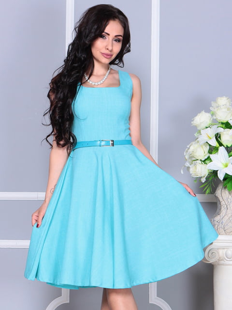 Сукня світло-бірюзова Maurini 4238472