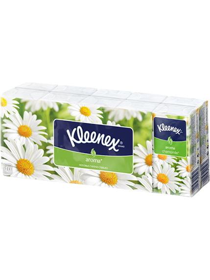 Носові хусточки з ароматом ромашки (10х10 шт.) Kleenex 2066885