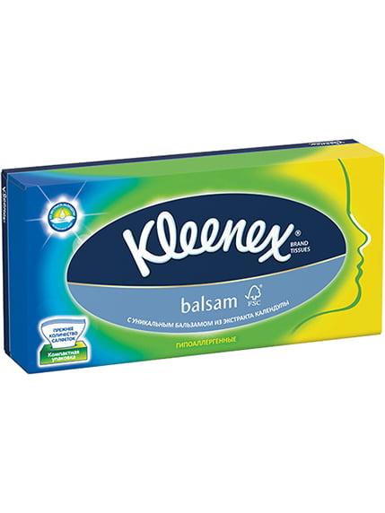 Серветки в коробці Balsam (80 шт.) Kleenex 2066892