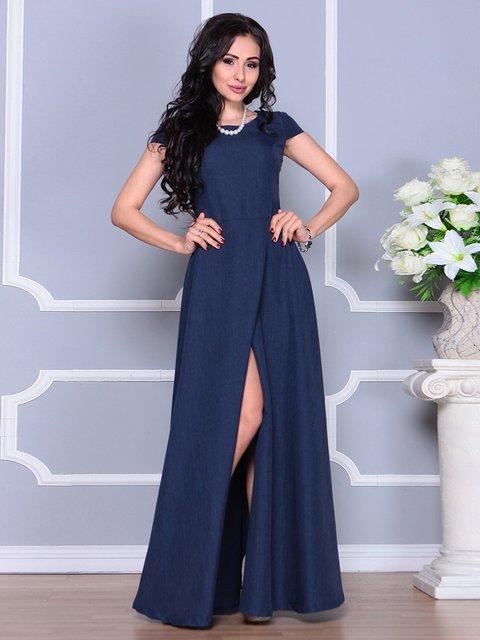 Сукня темно-синя Laura Bettini 4246223