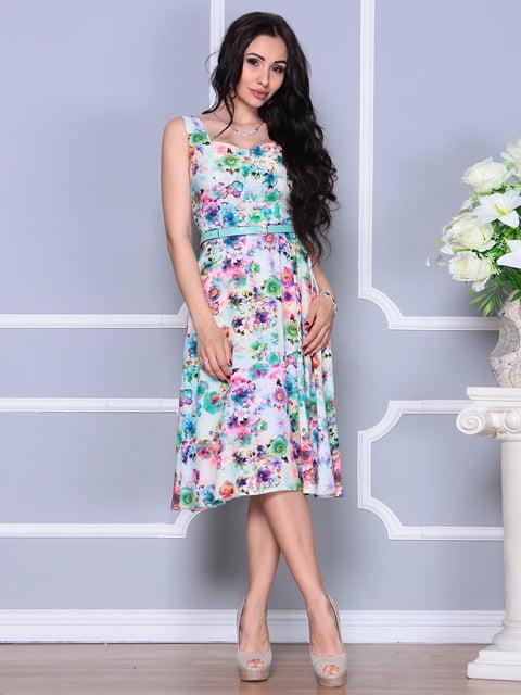 Платье в цветочный принт Laura Bettini 4255839