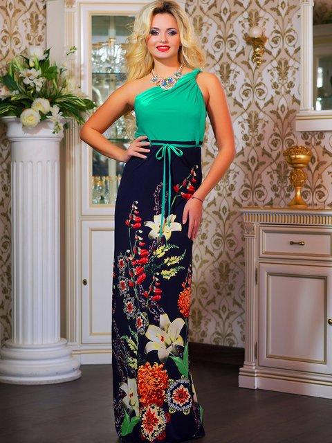 Сукня зелена в квітковий принт Seventeen 4262961