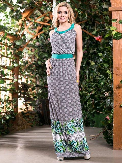 Сукня зелена в квітковий принт Seventeen 4262967