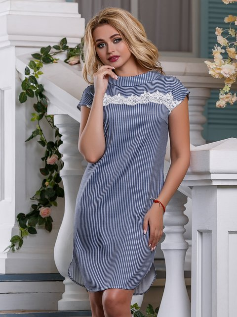 Сукня синя в смужку Seventeen 4262988