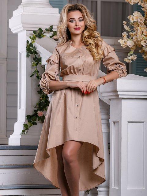Платье бежевое Seventeen 4263011