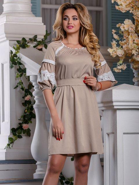 Платье бежевое Seventeen 4263013