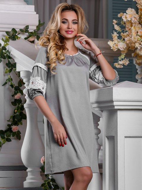 Платье светло-серое Seventeen 4263014