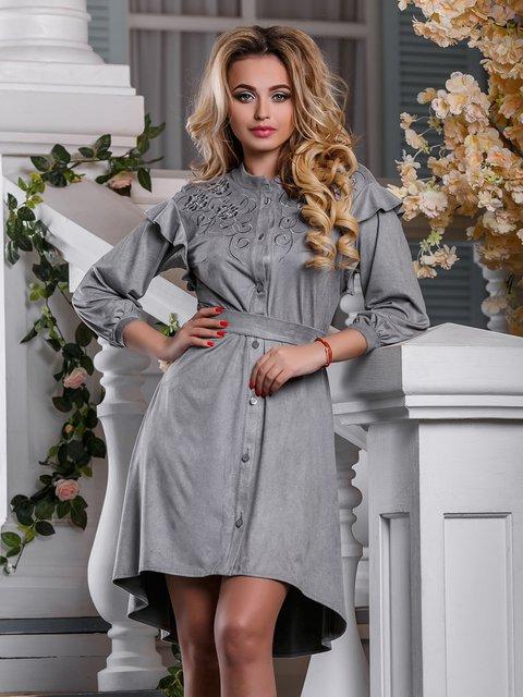 Платье серое Seventeen 4263029