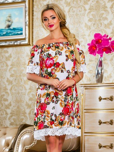 Сукня червона у квітковий принт Seventeen 4263049