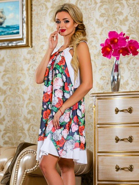 Платье белое в цветочный принт Seventeen 4263051