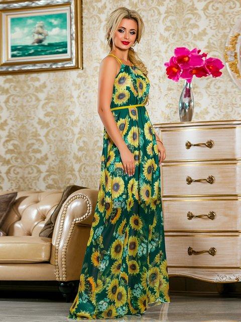 Сукня зелена в квітковий принт Seventeen 4263056