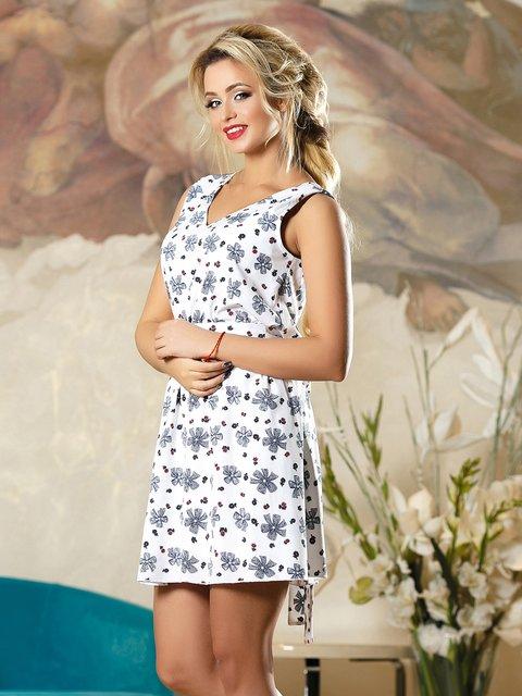 Платье белое в принт Seventeen 4263097