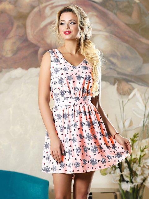 Сукня рожева у принт Seventeen 4263099