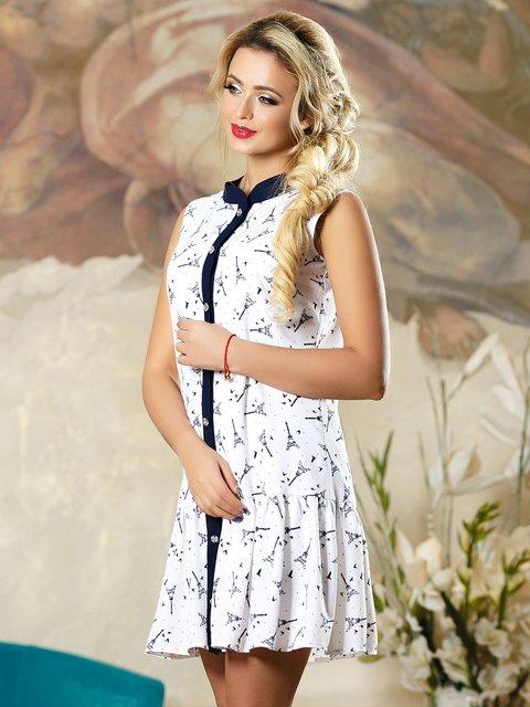 Платье белое в принт Seventeen 4263105
