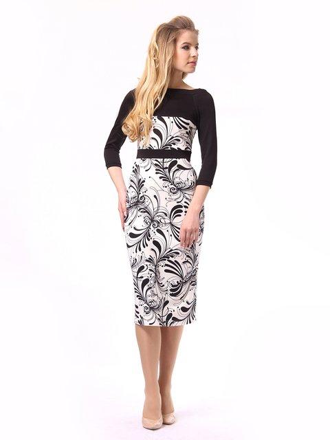 Платье двухцветное с принтом Lada Lucci 4249891