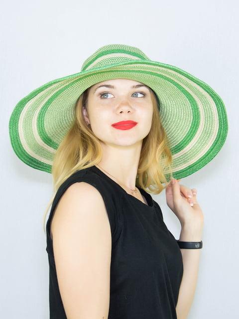 Шляпа зеленая в полоску Fashion Look 4265545